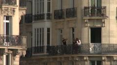 Tourists at Quai de Montebello Stock Footage