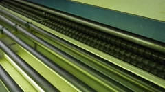Machine Close Up, Conveyor, Machine For Chamfering, Making Chamfer, and Glass Stock Footage