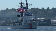 USCGC Midgett, WHEC-726, Coast Guard Cutter Stock Footage