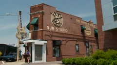 Exterior of SUN Records in Memphis, TN Stock Footage