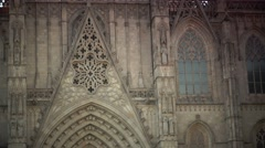 ULTRA HD 4K real time shot,Barcelona Cathedral Stock Footage