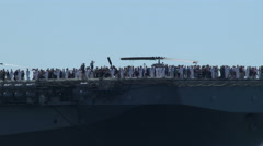 USS Boxer, LHD-4, Wasp-Class Amphibious Assault Ship, ship, navy Stock Footage