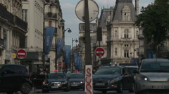 Rue de Rivoli Traffic 2 Stock Footage