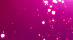 Flying particles 30 -  Flying Sparks, bubbles - Pink background Stock Footage