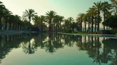 Summer morning in Salou, 4k Spain, Europe Stock Footage