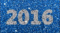 Year 2016 – seamless looping, blue Stock Footage