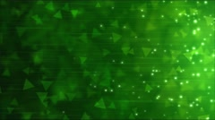 Triangle Particle Background Animation - Loop Green - stock footage