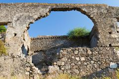 Ruined house from Kayakoy, Fethiye Stock Photos