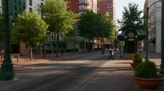 Trolley in Downtown Memphis, TN. Stock Footage