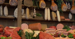 Sausages meat Stock Footage