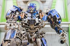 SINGAPORE - JULY 20 ,2015 : TRANSFORMERS The Ride: The Ultimate 3D Battle The - stock photo