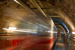 Old Tunnel Line from Karakoy to Istiklal Street, Istanbul - stock photo