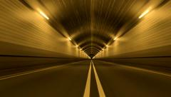 Tunnel Road Driving Fast Endless Seamless Loop 4K Stock Footage