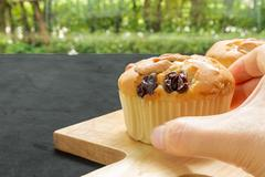 Muffin for Tea Break / Muffin for Tea Break Background Stock Photos