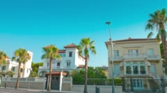 Salou, Spain, summer in Europe 4k, typical Spanish house establishing shot Stock Footage