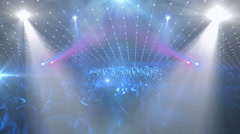 Concert stage (crowd of people. rear lights. Ideal for concert clips) Stock Footage