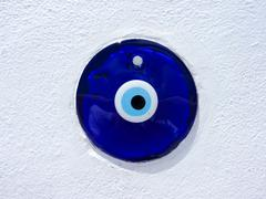 Traditional greek evil eye lucky charm Stock Photos