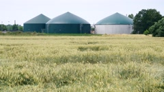 Modern biogas plant Stock Footage