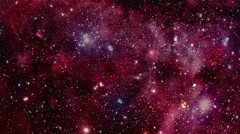 Flying Through Stars and Nebulae - HD - Red Stock Footage