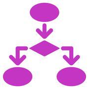 Flowchart Icon from Commerce Set - stock illustration