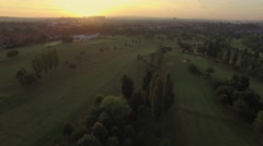 Stock Video Footage of Stock aerial video of  golf course 4K