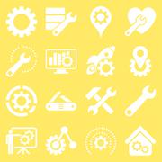 Options and service tools icon set - stock illustration