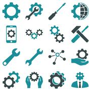 Stock Illustration of Options and service tools icon set