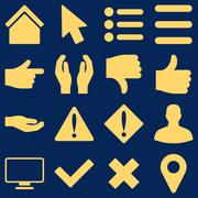 Stock Illustration of Basic gesture and sign icons