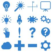 Stock Illustration of Basic science and knowledge icons