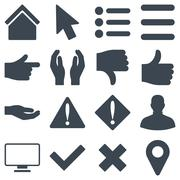 Basic gesture and sign icons Stock Illustration