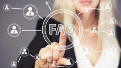 Business button FAQ connection online communication web - stock footage