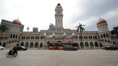 Sultan Abdul Samad Building Kuala Lumpur Malaysia Stock Footage