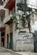 Havana, slogan wanting communism Stock Photos