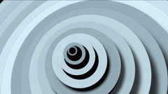 4k Abstract circle ring rounds 3d tunnel hole,3d paper ripples cards wave space Stock Footage