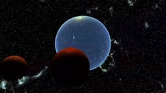 Planet in space Stock Footage