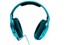 Cool Headphones Isolated on Whit Stock Photos