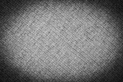 Black and white of sackcloth with vignette Stock Photos