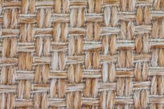 Close up sackcloth texture - stock photo