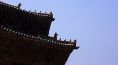 Glaze tile and cornice of Chinese Palace Stock Footage