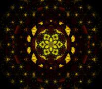 Seamless pattern abstract universe black yellow Stock Illustration