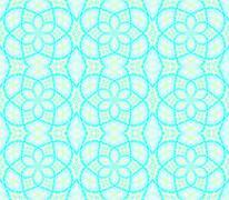 Seamless ellipses pattern turquoise - stock illustration