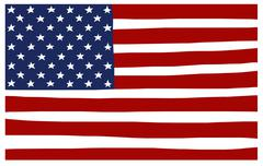 America USA stars and stripes flag stylized Stock Illustration