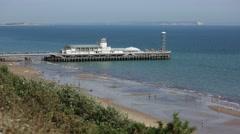 Holidays in England (South coast beach) IOW Stock Footage
