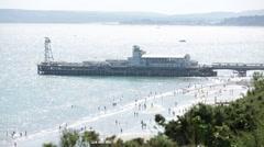 English South Coast (Bournemouth Pier) Stock Footage
