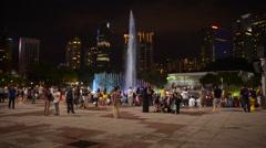 Water Show at Petronas Towers in Kuala Lumpur Malaysia Stock Footage