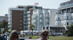 English Seaside Hotel (South coast, Bournemouth) Stock Footage