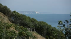 Isle of Wight view: English south coast Stock Footage