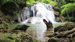 The Huai Mae Kamin waterfall,Thailand - stock footage