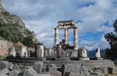 Sanctuary of Athena in Delphi - stock photo