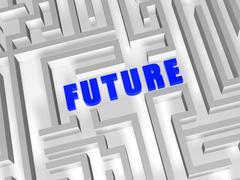 Future in maze Stock Illustration